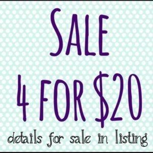 Choose 4 items $15 or less each and Pay $20 total